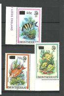Montserrat 1983 Fishes Overprint, Mi 513-514-518 MNH(**) - Montserrat