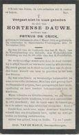 BP Dauwe Hortense (Galmaarden 1865 - Smeerebbe Vloerzegem 1913) - Alte Papiere