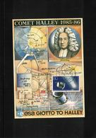 Germany 1990 Astronomy Halley Comet Interesting Postcard - Astronomie