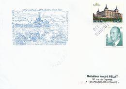 Lettre Avec Cachet XII Campana Antartica 2008-2009 - Espagne N°3675 Et 3426 - Griffe Oblitérante De LIMOURS 91-338 - Research Programs