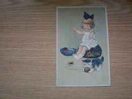 Children Cat Old Postcards - Kindertekeningen