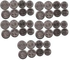 Ukraine - 5 Pcs X Set 4 Coins 1 2 5 10 Hryvni 2019 - 2020 UNC Lemberg-Zp - Oekraïne