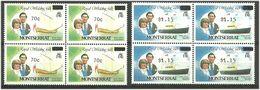 Montserrat 1983 Overprints, Mi 513-521  Some In Bloc Of Four MNH(**) - Montserrat