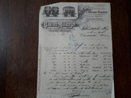 L15/99 Ancienne Facture. Le Puy. Location De Wagons Foudres. Badiou . Malmazet. 1913 - France