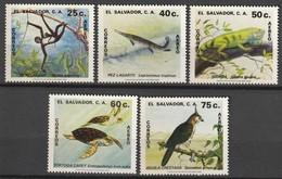 SALVADOR - PA N°461/5 ** (1981) Protection Des Animaux - El Salvador