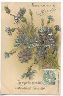 FLEURS -  Carte Gaufrée Et Dorée - Série 1031 - Bloemen