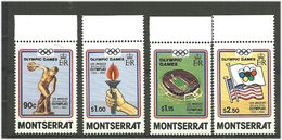 Montserrat 1984 Olympic Summer Games Los Angeles, Mi 534-537  MNH(**) - Montserrat
