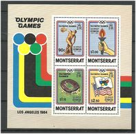 Montserrat 1984 Olympic Summer Games Los Angeles, Mi Bloc 27  MNH(**) - Montserrat