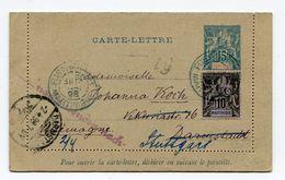 !!! MARTINIQUE, ENTIER POSTAL DE FORT DE FRANCE POUR L'ALLEMAGNE DE 1898 - Brieven En Documenten