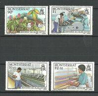 Montserrat 1985 Cotton Industry Mi 586-589  MNH(**) - Montserrat