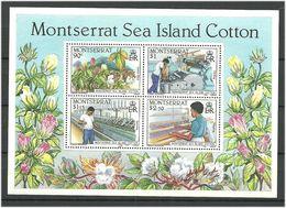 Montserrat 1985 Cotton Industry Mi Bloc 33  MNH(**) - Montserrat