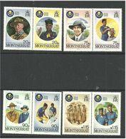 Montserrat 1985 50 Years Of Girl Scouts In Montserrat Mi 609-616  MNH(**) - Montserrat