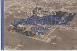 ETABLISSEMENTS J. & F. MARTELL COGNAC  1715-   CARNET DE 6 CARTES POSTALES - Publicidad