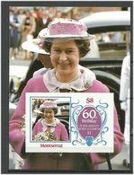 Montserrat 1986 Queen Elisabeth II's 60th Birthday Mi Bloc 34 MNH(**) - Montserrat