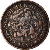 Monnaie, Pays-Bas, Wilhelmina I, Cent, 1917, TB+, Bronze, KM:152 - [ 3] 1815-… : Royaume Des Pays-Bas