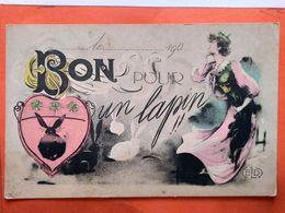 CPA.Humour. Bon Pour Un Lapin.Style Art Nouveau.  ELD.  (D1.712) - Humour