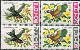 SAINT LUCIA 1969 Native Birds Parrots Animals Fauna MNH - Perroquets & Tropicaux