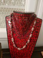 Collier Pierres Beiges Roses - Jewels & Clocks