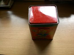 Old Tin Children's Cash Register Money Box Toy - Boxes