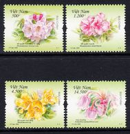 2009 Vietnam Flowers Rhododendron Complete Set Of 4 MNH - Vietnam