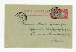!!! REUNION, ENTIER POSTAL DE SAINT DENIS POUR PARIS DE 1913 - Réunion (1852-1975)