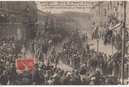 54   Baccarat  Entre Du 17° Bataillon De Chasseurs A Pieds ... Defile Grane Rue - Baccarat