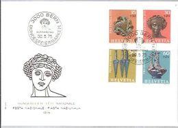 FDC 1975  SUIZA - Archéologie