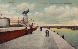1503/ Emden,  Aussenhafen Miet Verladenbrucken Und 40 Tonnen Krahn, 1912 - Emden