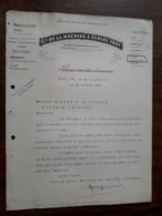 L15/111 Ancienne Lettre. Dijon. Machine à écrire Yost. 1908 - France