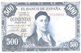 Spain 500 Pesetas 1954 - 1000 Pesetas