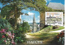 4143 - VENDÔME  (LOIR-ET-CHER) LA VALLÉE DU LOIR 1er Jour - Maximum Cards