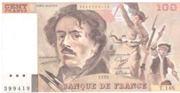 France, 100 Francs, 1989 - 1962-1997 ''Francs''