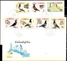 39003 Cuba 1966 Pigeon Breeding FDC - FDC
