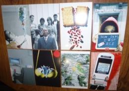 Série De 8 Cartes Postales - Création : Philippe Rupcic (argent - Billets De Banque - Gateau LU - Portable) - Publicidad