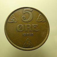 Norway 5 Ore 1928 - Noorwegen