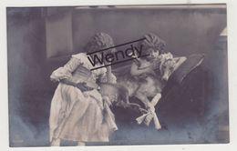 Meisje/Fillette Grete Reinwald - 2 Kaarten Met Hond Serie 3166/2/1 - Portretten