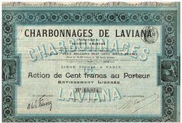 Titre Ancien - Charbonnages De Laviana - Espagne - Société Anonyme - Titre De 1907 - - Mines