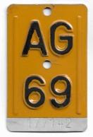 Velonummer Mofanummer Aargau AG 69 - Placas De Matriculación