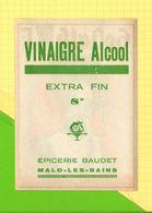 Etiquette Vinaigre Alcool Malo Les Bains    Geant GOLIATH 1er DUNKERQUE - Andere