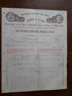 L15/113 Ancienne Facture. St Uze. Terre D'acier. Gustave Revol. 1904 - France