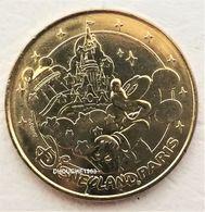 Monnaie De Paris 77.Disneyland 22 Mickey Sorcier Et Le Château 2014 Gras - Monnaie De Paris
