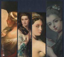 -244-  THEME : PORTRAIT DE FEMME * ART PEINTURE *  - LOT 4 MARQUE PAGE - Bookmarks