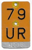Velonummer Mofanummer Uri UR 79 - Placas De Matriculación