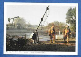 SAINT-MARTIN-de-BOSSENAY (10) Puits Pétrole 4/11/1995 : Sapeurs Pompiers En Exercice (fuite Fictive D'hydrogène ) 440/5 - France