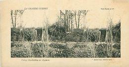 LA GRANDE GUERRE - VILLAGE GARIBALDIEN EN ARGONNE - Stereoscope Cards