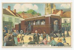 Publicité.les Cafés Gilbert, 136 Rue Championnet à Paris.train, Wagon. - Publicidad