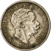 Luxembourg, Adolphe, 10 Centimes, 1901, TTB+, Copper-nickel, KM:25 - Luxembourg