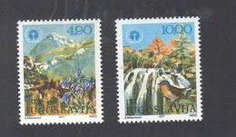 YUGOSLAVIA 1977 World Environment Day, Mint Never Hinged, Scott Cat. No(s). 1338-1339 - 1945-1992 Socialist Federal Republic Of Yugoslavia