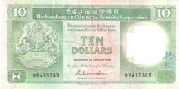 Hongkong 10 Dollars  1988 - Brazil