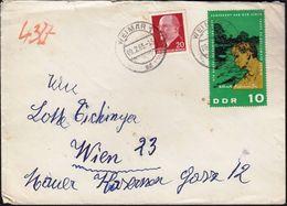 Germany DDR Weimar 1965 / President Walter Ulbricht, 90th Anniversary Of The Birth Of Albert Schweitzer - Cartas